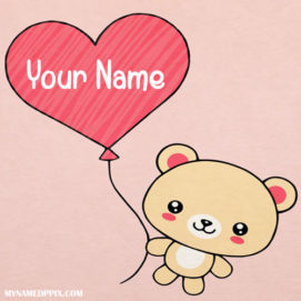Beautiful Teddy Heart In Name Pictures