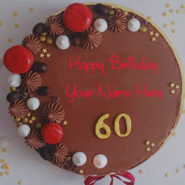 Birthday Cake By 60 Age Wishes Picture