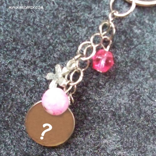 Create Name First Letter Key Chain Pix