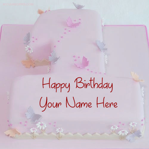 Happy Birthday Cake By 1st Age Wishes Name Pictures