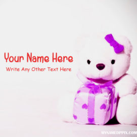 Print Name And Other Text On Cute Teddy Pictures