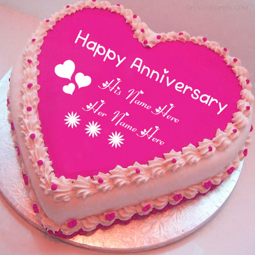 Write Name On Anniversary Wishes Cake Pictures