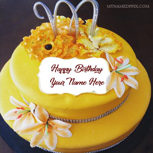 Write Name On Beautiful Birthday Cake For Sister Name Pictures