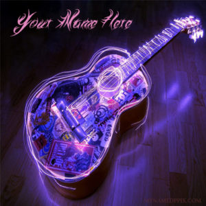 Write Name On Cool Music Guitar Picture