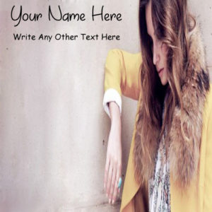 Write Name On Cool Styles Attitude Girl Profile Photo