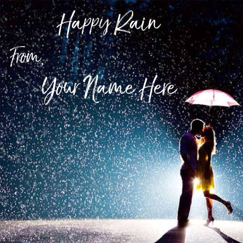 Write Name On Monsoon Seasons Wishes Love Couple