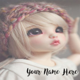 Create Your Name Beautiful Doll Profile Image