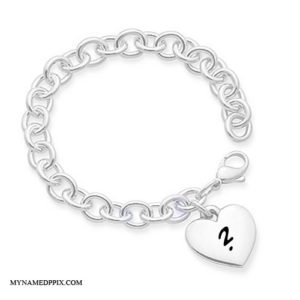 Love Bracelet Pendant With Name First Letter