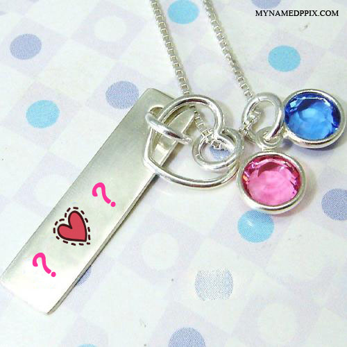 Necklace Bar On Lover Name Letter Image