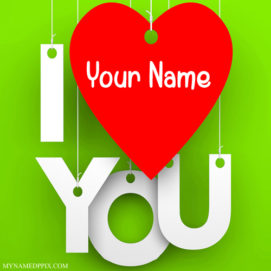 Print His or Her Name Love U Profile Image
