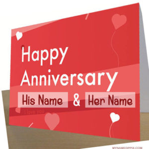 Specially Name Wishes Wedding Anniversary Card Image