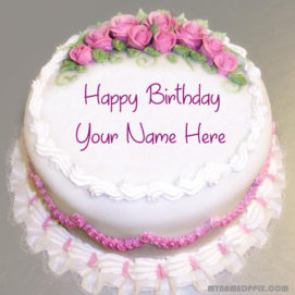 Specially Name Writing Birthday Cake Image
