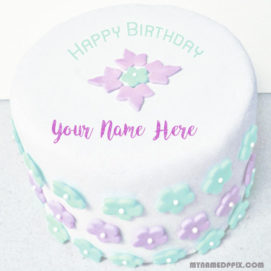 Unique Birthday Cake Wishes Name Image