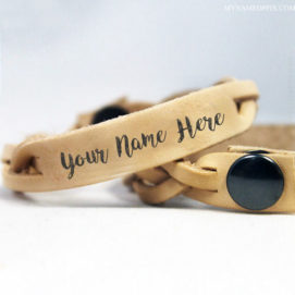 Write Boy or Girl Name Leather Belt Image