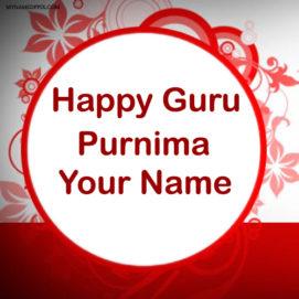 Write Name Happy Guru Purnima Wish Card