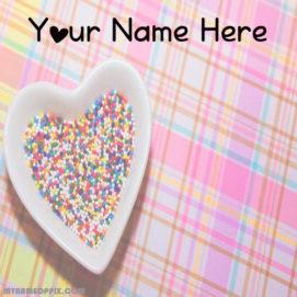 Write Name On Cute Love Image Profile
