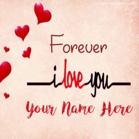 Write Name On Forever Love U Profile Photo