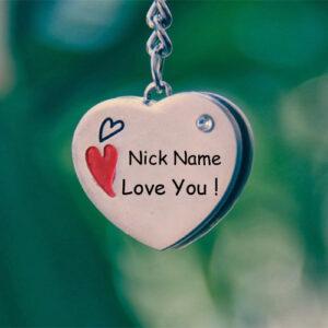 Write Name On Love U Pendant Profile