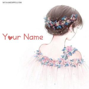 Write Name On Princess Drawing Girl Image