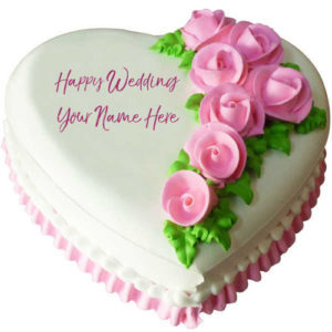 Beautiful Cake Wedding Wishes Name Writing Pictures