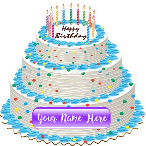 Big Layer Birthday Cake Wishes Special Name Pictures