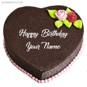Birthday Chocolate Cake Name Wishes Profile Set Whatsapp DP