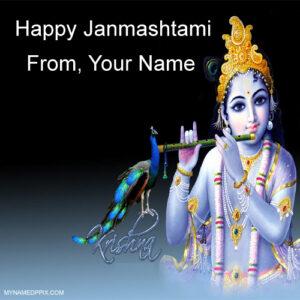 Create Online Janmashtami Wish Card Sand Whatsapp