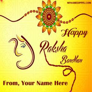 Happy Raksha Bandhan Name Wishes Image Edit Online