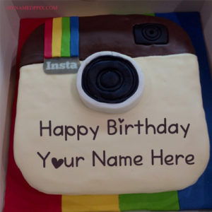 Instagram Birthday Cake Friend Name Wishes Pictures