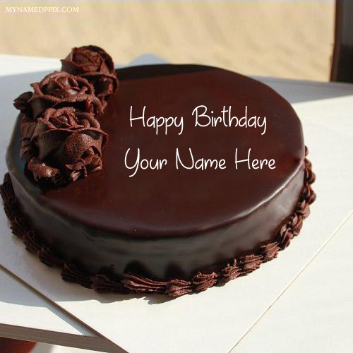 Online Write Name Chocolate Rose Birthday Cake Pics
