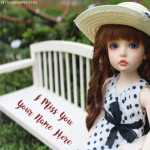 Online Write Name Miss U Beautiful Cute Doll Profile Pics