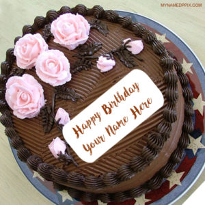 Print Name On Chocolate Birthday Cake Wishes Pics
