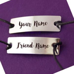 Stylish Friendship Belt True Friends Name Photo Edit