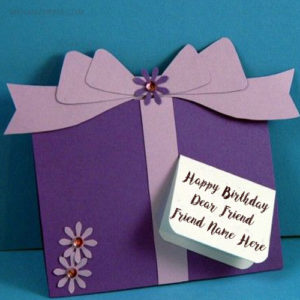Write Friend Name Birthday Wish Card Image Edit Online