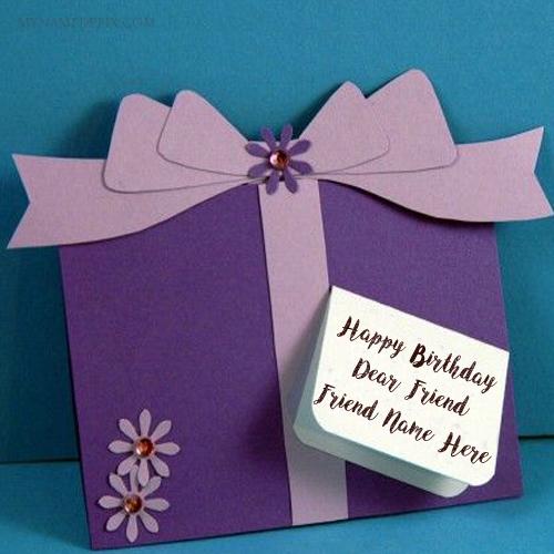 Write Friend Name Birthday Wish Card Image Edit Online