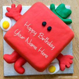 Write Kids Name Cute Strawberry Birthday Cake Pix