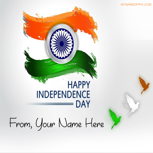 Write Name Indian Independence Day Pictures Online