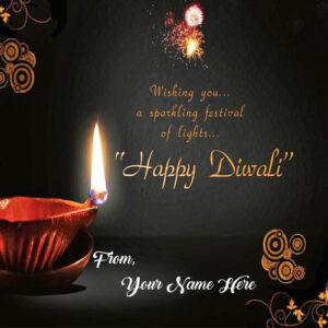 Beautiful Greeting Card Diwali Wishes Name Write Online