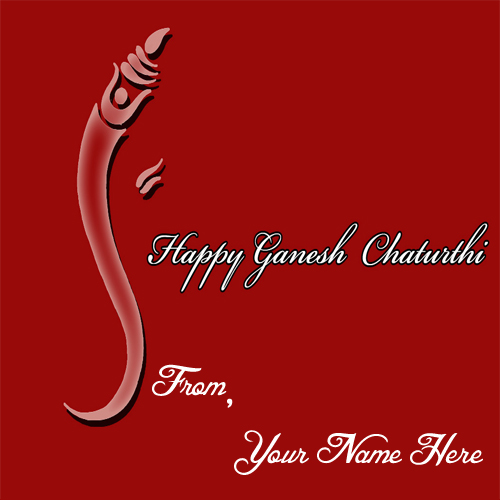 Friends Name Wishes Happy Ganesh Chaturthi Card Edit