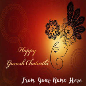 New Best Send Whatsapp Happy Ganesh Chaturthi Name Cards