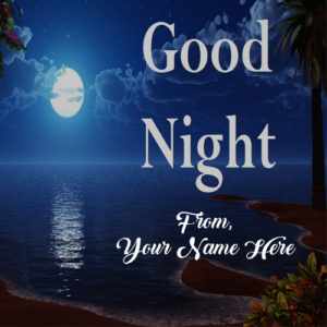 Write Name Good Night Special Wishes Greeting Card Image