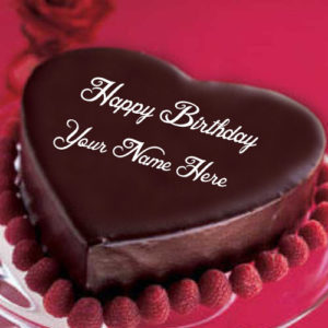 Write Name Happy Birthday Chocolate Cake Wishes Pictures