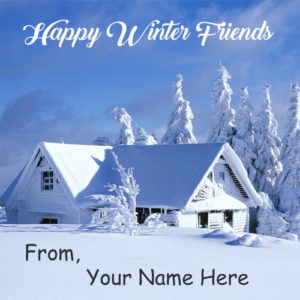Write Name Happy Winter Wishes Cool Pictures Online