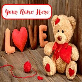 Write Name Love Cute Teddy Profile Set Pictures Download
