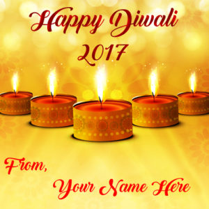 2017 Happy Diwali Custom Name Wishes Greeting Card Image