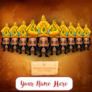 2017 Latest Dussehra Name Wish Card Editing Photo