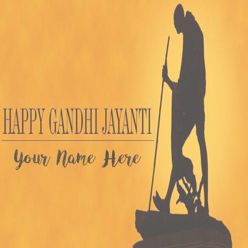 2nd October Gandhi Jayanti Name Wishes Image Free Edit