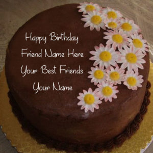 Friend Birthday Wishes Name Cake Photo Edit Online