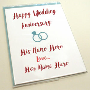 Happy Wedding Anniversary Names Greeting Card Pix