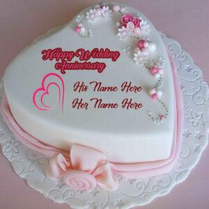 Happy Wedding Anniversary Wishes Names Cake Image